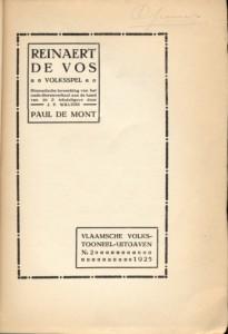 De Mont Paul 2b_1925 titelblad