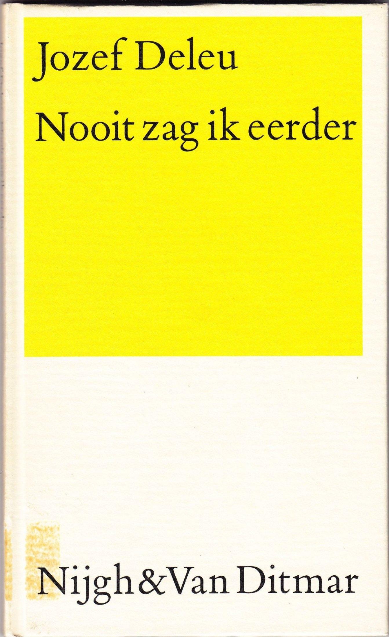 Iets Nieuws Deleu, Jozef – Schrijversgewijs #JW34