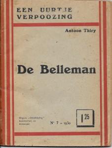 Thiry antoon 22 De Belleman