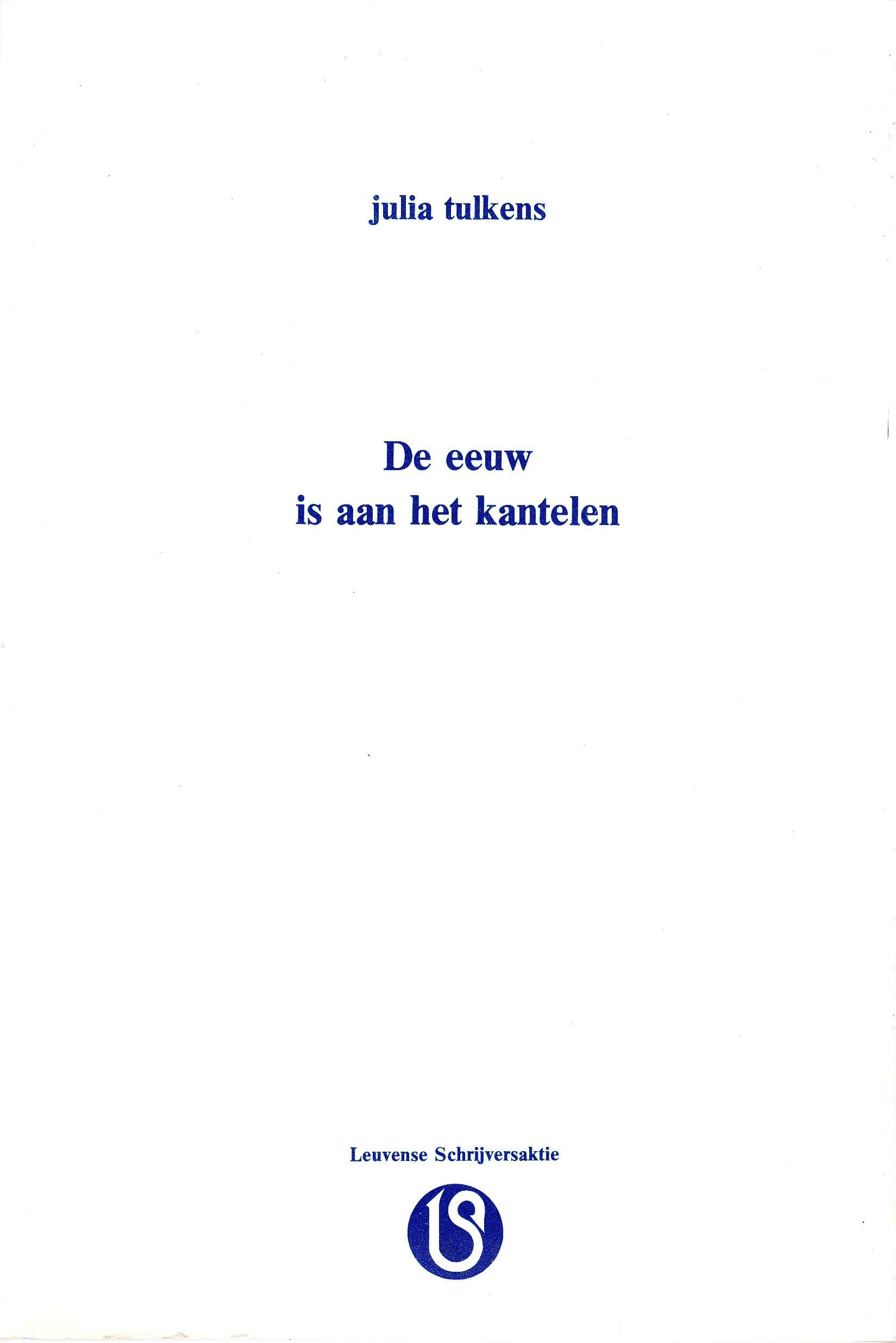 Geliefde Tulkens, Julia – Schrijversgewijs &MA12