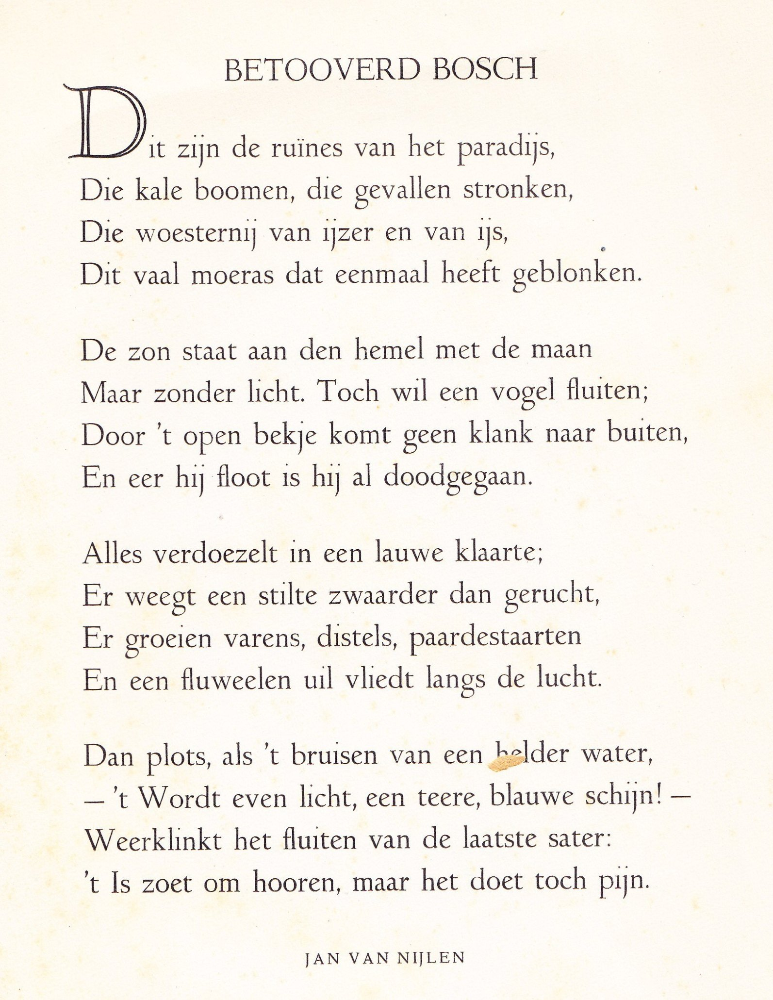 Verbazingwekkend Van Nijlen, Jan – Schrijversgewijs GJ-79